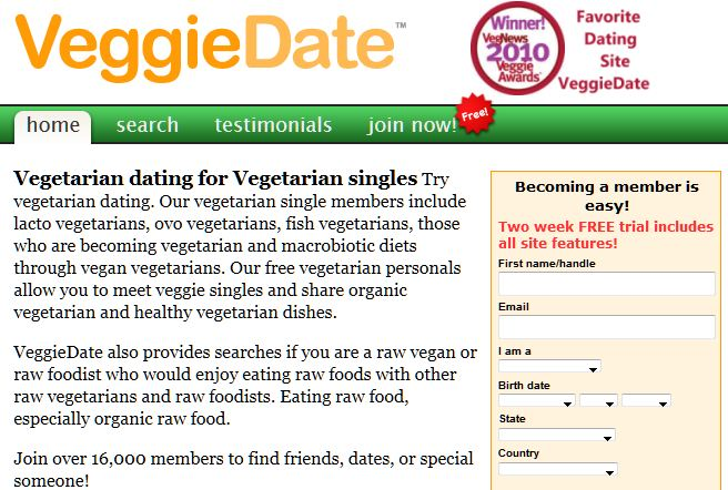 veggie dating sites