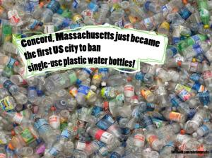 Concord, Massachusetts first city to ban plastic bottles